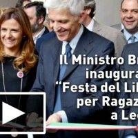 Il Ministro Bray inaugura La Festa del Libro per Ragazzi a Lecce | #InOnda WebTv