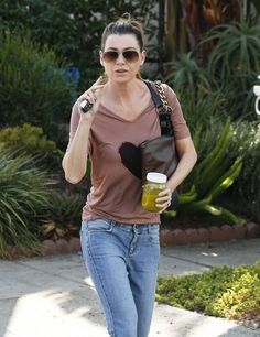 Ellen Pompeo Photos - Actress Ellen Pompeo is seen leaving a salon on October 16, 2014 in West Hollywood, California.  - Ellen Pompeo Stops by a Salon