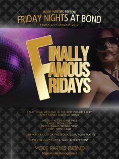 Friday Nights at Bond. January & February 2012.
