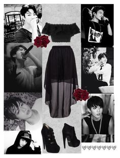 """""""I Catch Myself Thinking About You Everyday ~ JungKook"""" by ish-fish ❤ liked on Polyvore featuring Alexander McQueen and Jeffrey Campbell"""