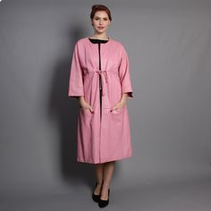 60s Bonnie Cashin MOD COAT / 1960s Pink Leather by LuckyDryGoods