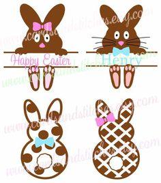 Easter Bunnies SVG - Easter SVG - Bunnies SVG - Digital Cut File - Graphic Design - Cricut Cut - Instant Download - Svg, Dxf, Jpg, Eps, Png by cardsandstitches on Etsy