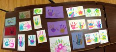 Mismatch hand prints! Week of the young child!