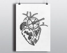 Show off your passion for cycling with my very popular Anatomical Cycling Heart print. A perfect piece for the cycling or art enthusiast, this is a print of an original pen and ink piece created by me, the shop owner.  Each print comes printed on premium 255 gsm (66 lb/10.5 mil) Arctic Polar Satin paper. The look and feel of this paper is stunning. The high-quality luster finish minimizes fingerprints and increases image sharpness, ensuring you see every fine detail of the piece.  In ad...