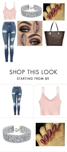 """💪"" by louisa-hesske ❤ liked on Polyvore featuring Topshop, H&M, DANNIJO and Louis Vuitton"