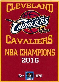 CLEVELAND CAVALIERS 2016 NBA CHAMPIONSHIP BANNER FRIDGE MAGNET #ClevelandCavaliers