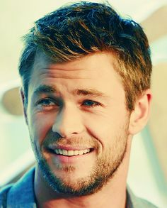 Chris Hemsworth  he is hot with long or short hair