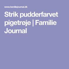 Strik pudderfarvet pigetrøje | Familie Journal