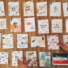 Only pinning becaus I like the simple arrangement of the cards ahaha.. I'll have to copy this