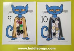 A Pete the Cat Freebie- and a brand NEW Wiggles book!!!! | Heidi Songs