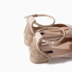 Image 5 of BALLERINA WITH SHINY ANKLE STRAP from Zara