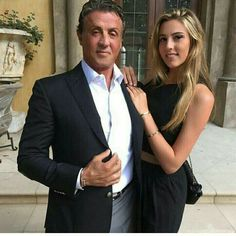Syl Stallone a n d his Daughter