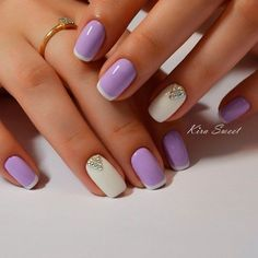 Best 50 Trendy Short Gel Nail Latest Nail Art Trends & IdeasBest 50 Trendy Short Gel Nail Latest Nail Art Trends & Ideas Looking for new nail art ideas for your short gel nails recently? Chrome Nails Designs, Purple Nail Designs, Gel Nail Art Designs, Colorful Nail Designs, Purple Nails, White Nails, Glitter Nails, Yellow Nails, Pastel Purple
