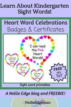 Kindergarten Learning, Kids Learning, Teaching, Learning Targets, Learning Goals, Word Program, Sight Words Printables, Abc Phonics, Sight Word Activities