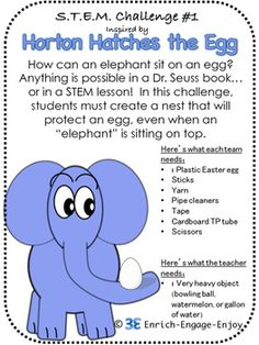3 STEM Challenges for Read Across America Day Inspired by Seuss Dr Seuss Activities, Science Activities, Classroom Activities, Space Activities, Enrichment Activities, Science Classroom, Science Experiments, Dr Seuss Stem, Dr Seuss Day