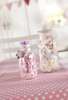 Kleines Geschenk Für Die Gäste   Fülle Traubenzuckerl In Eine Glasflasche  Und Gib Eine Schleife Drum. Kids DiyDiy BabyDrumDiy Ideen