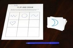 The Pre-Writing Packet - 7 Hands-on Games. {Playdough to Plato} flip and draw