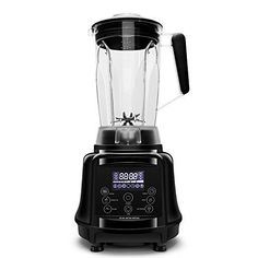 Commercial Blender AIMORES 75oz 3in1 Programmable Smoothie Juice Ice Cream Mixer High Speed 28000 rpm Auto Clean  Timing 6 SS Blades  ETLFDA Approved  w Tamper  Recipe Black *** This is an Amazon Associate's Pin. View the item in details on Amazon website by clicking the image Amazon Website, Specialty Appliances, Car Cleaning, Coffee Machine, Coffee Beans, Mixer, Juice, Ice Cream, Smoothie
