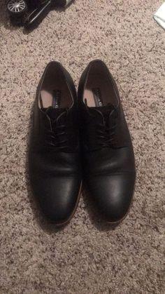 (eBay link) Black Leather Mens Shoes Aston Grey Size 10  fashion  clothing 207b70f30fd