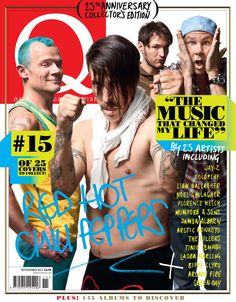 The Red Hot Chili Peppers photographed by Matthias Clamer for Q.