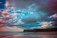 The scenic splendour of Saltburn beach. Information Center, Tourist Information, Cloud City, North Yorkshire, The Crown, Cleveland, England, Clouds, World