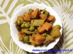 Mummy cooks Yummy: Aloo gajar matar ki sabzi / potato peas and carrot curry recipe/ howtomake potato peas and carrot curry