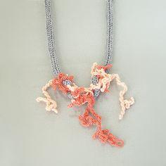 Moss coral sculpture wearable art by Mandy Besek