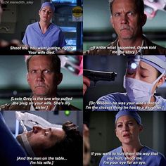 """2,772 Likes, 7 Comments - Grey's Anatomy Scenes (@meredith_sley) on Instagram: """"I'm your eye for an eye."""""""