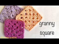 Básico Granny a crochet para principiantes tejer y unir paso a paso - YouTube