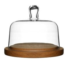 Your smoked gouda, cheddar, or parmesan couldn't ask for a better place to live. Hand-blown glass and authentic oak merge to create a cheese dome that is a stunning choice when entertaining guests. Serveware, Tableware, Cheese Dome, Wedding Gift Registry, The Bell Jar, Wood Tray, Dot And Bo, Glass Domes, Katana