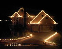Outdoor Christmas Lights -  I miss how they all do this in Texas!!!! Not the same in NC