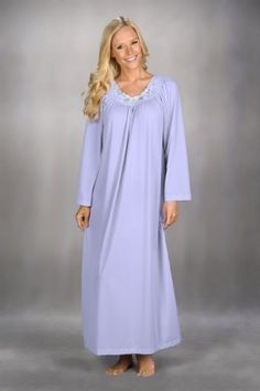 Industries Needs — Long Sleeve Nylon Gown by Shadowline Soft and...