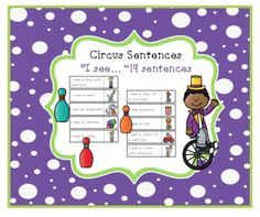 Circus+Sentences+from+Preschool+Printables+on+TeachersNotebook.com+-++(6+pages)++-+19+sentence+that+begin+with+