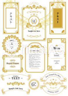 フォーマル枠セット Japan Graphic Design, Japan Design, Book Design, Layout Design, Web Design, Food Packaging Design, Branding Design, Wedding Paper, Wedding Cards