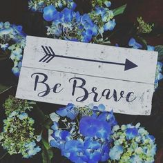 Be Brave Wood Sign  Rustic Decor  Home Decor  by HamptonsNook