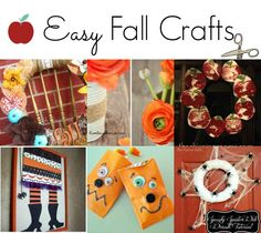 Easy Fall Crafts - check out these cool fall crafts for kids! #autumn