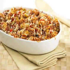 Not your typical Mac' n' Beef or Shipwreck Casserole, this recipe for Mediterranean Beef & Pasta Bake makes hearty and healthy go hand-in-hand. If pressed for time, skip the baking and use as a stove-top dish.