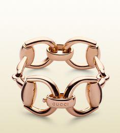 GUCCI horsebit bracelet - pink gold