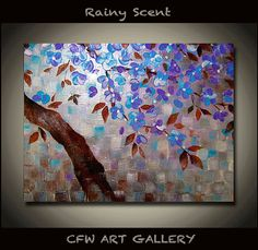 Flower Art Painting Acrylic painting Original abstract by CFWART