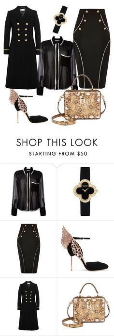 """Untitled #24"" by upstate-glamma on Polyvore featuring Chloé, Van Cleef & Arpels, River Island, Sophia Webster, Yves Saint Laurent and Dolce&Gabbana"