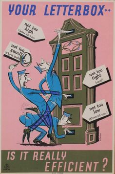 1950 Martin Aitchison Your Letterbox is it really efficient ?, GPO poster