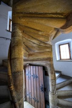 Double spiral staircases are not unheard of, though they are very rare.