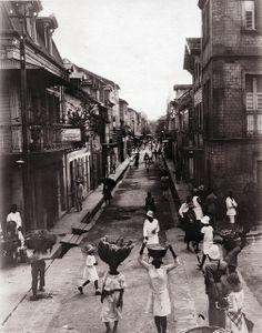 Street Near Market, Fort de France, Martinique, 1930   Flickr - Photo Sharing!