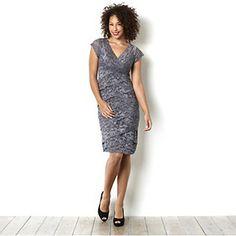 Tiana B Layered Stretch Lace Dress