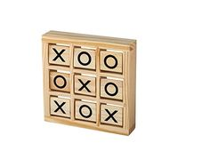 Wooden Tic Tac Toe Game - Fun Travel Games Toys for Kids ...