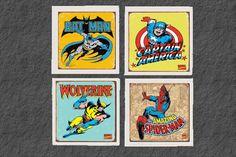 Boys room frame comic book covers