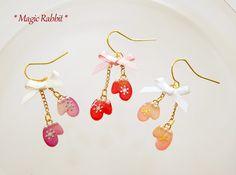 3色から選択◆バラの手袋ピアス or イヤリング
