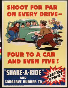 Share-A-Ride.  US.  General Motors Corporation, Oldsmobile Division.  c. 1942.