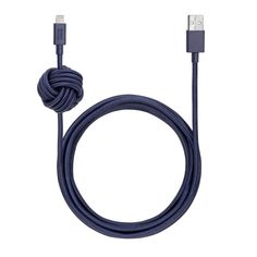 Native Union Lightning Night Cable with Weighted Knot - Marine. Native Union Lightning Night Cable with Weighted Knot - Marine Cable Lightning, Gadgets, Usb Type A, Cable Organizer, Iphone Charger, Marine Blue, Charging Cable, Tech Accessories, Knots