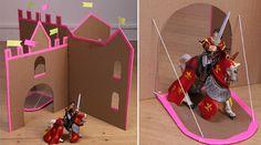 Voici un tutoriel pour fabriquer un château fort en carton